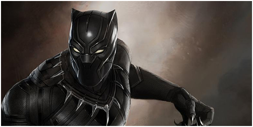 Superhero Black Panther Costume, all black and all handsome.